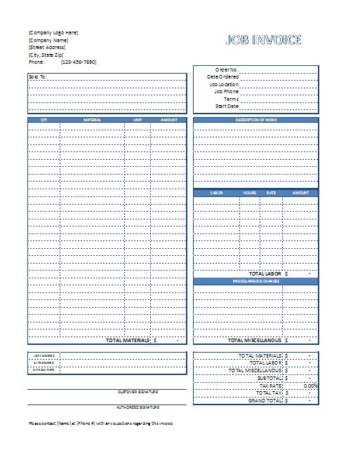 free excel invoices templates download .