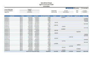 AR Aging Excel Template